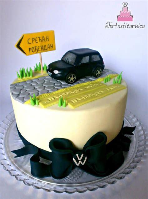 Golf Auto Torta by Volkswagen Cake Torte Tema Auto Pinterest Lecker