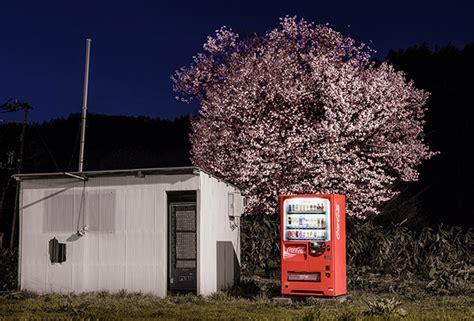 vending machines  illuminate japan