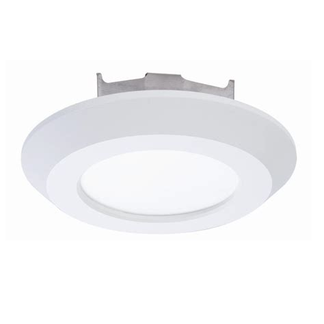 Recessed Light Fixtures For Ceilings Halo Sld 4 In White Integrated Led Recessed Retrofit Ceiling Mount Light Fixture With 90 Cri