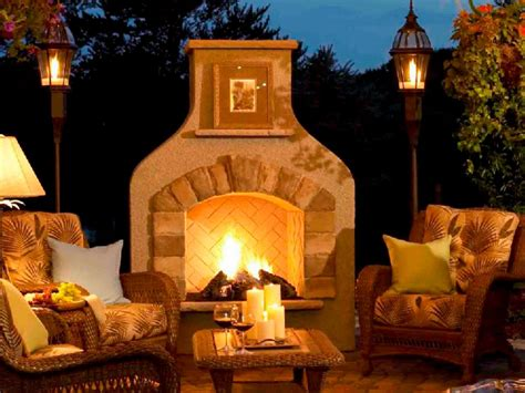 Outside Fireplace by Outdoor Fireplace Design Ideas Hgtv