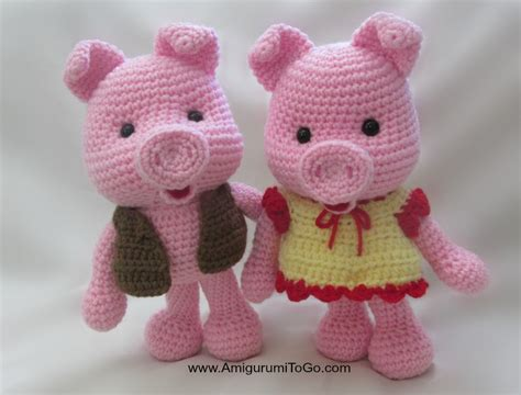 pattern crochet pig dress up pigs free pattern amigurumi to go