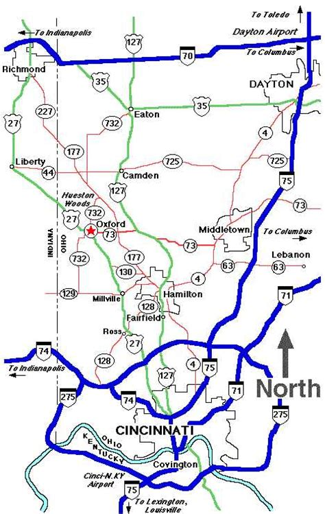 map of miami oxford directions to oxford oh
