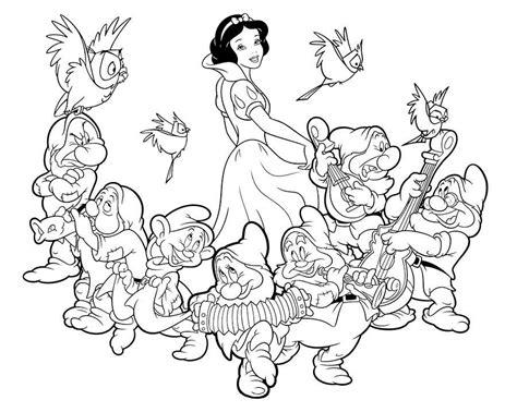 imagenes para colorear blanca nieves dibujos de blancanieves y los siete enanitos para colorear