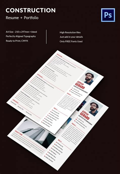 Construction Manager Resume by Project Manager Resume Template 10 Free Word Excel