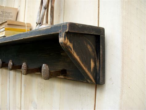 Rustic Country Wall Shelf by Cottage Chic Shelf Rustic Shelving By Honeystreasures