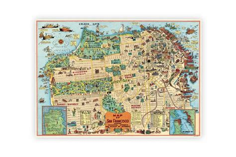 san francisco map paper cavallini co 2 4 cyclemiles