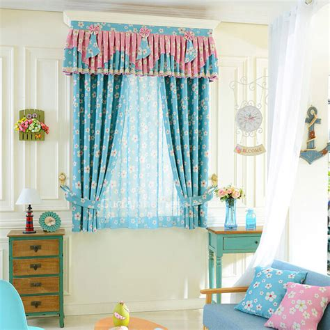 Curtain Rods For Nursery Decorative Pastoral Floral Nursery Curtain Bay Window Curtain No Valance