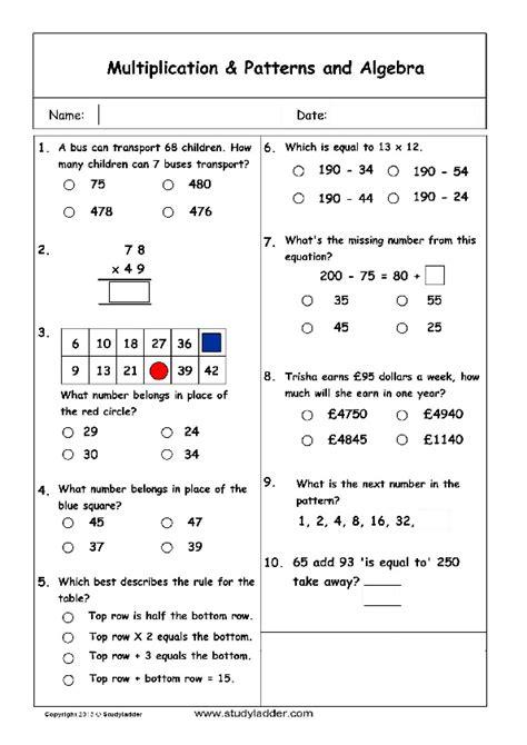 pattern problem solving activities patterns and algebra problem solving mathematics skills