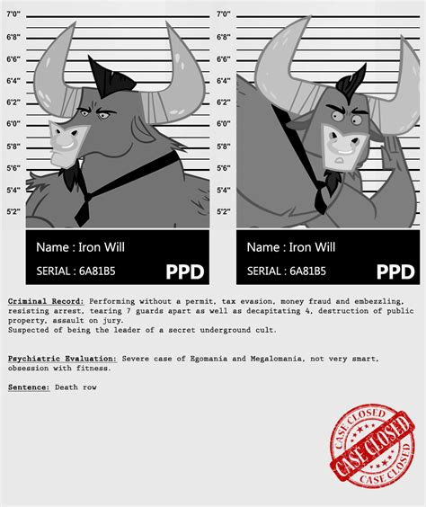 Iron Criminal Record My Criminal Records Iron Will By Dan232323 On Deviantart