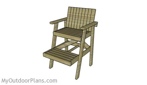 lifeguard chair plans myoutdoorplans free woodworking