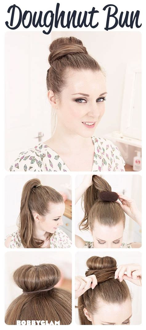 when were doughnut hairstyles inverted how to make a donut bun 5 steps hair dos pinterest