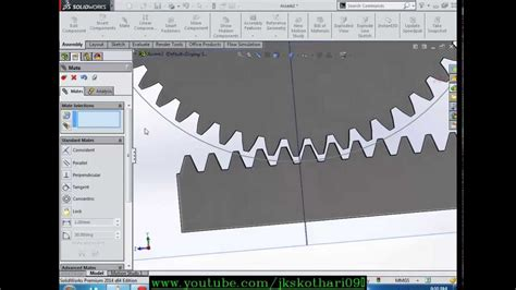 Solidworks Rack Pinion Mate tutorial rack and pinion mech mate solidworks