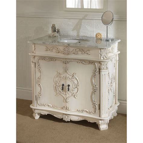vintage vanity units for bathrooms a home office furnished with white french provincial furniture traditional antique