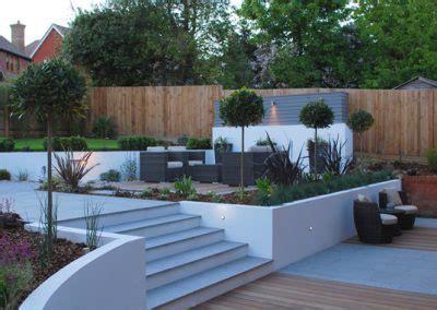 stepped garden design ideas garden design in kent contemporary stepped garden design