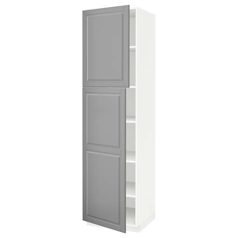 2 door cabinet with shelves metod high cabinet with shelves 2 doors white bodbyn grey