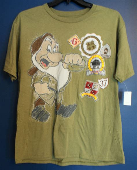 T Shirt Zero X Store 1 new disney store grumpy snow white t shirt mens large l ebay