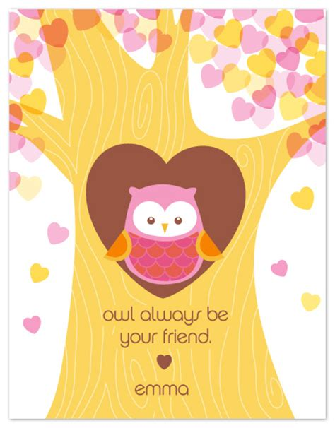 owl valentines day s day owl be your friend at minted
