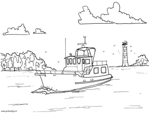 speedboot kleurplaat boten motorboot en jachten kleurplaten
