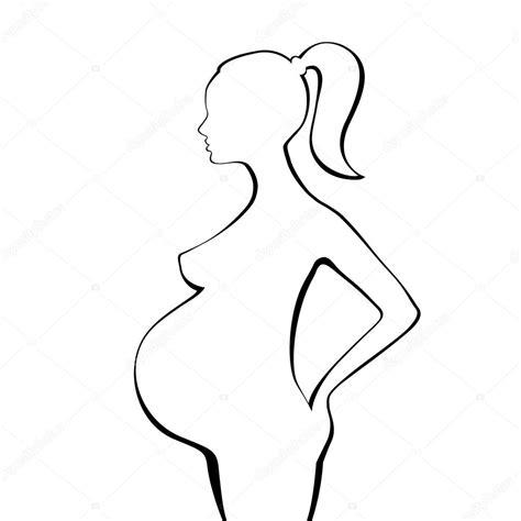 fotos blanco y negro embarazo silueta de mujer embarazada archivo im 225 genes vectoriales