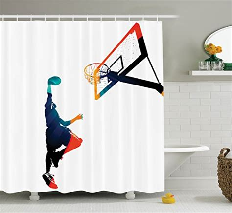 sports bathroom decor themed shower curtains add pizzazz to any bathroom