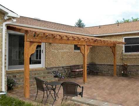 attached pergola kits pergola kits attached to house attached garden pergolas
