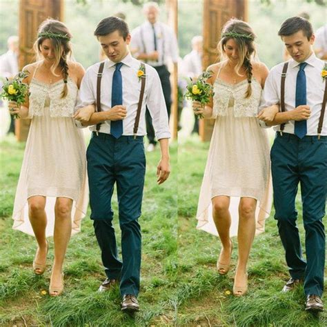 Promo Boho Chic discount bohemian country style wedding dress high low boho bridal bliss