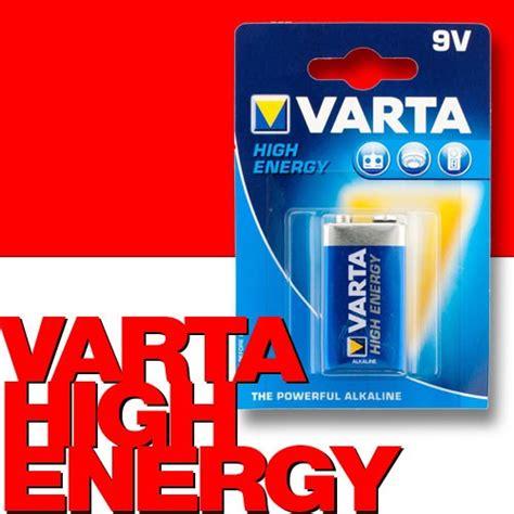 Motorrad Batterie 9v by Varta 4922 High Energy Alkaline Batterie 9v Block E 6lr61