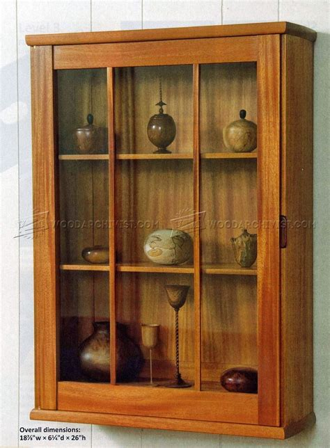 Display Cabinet by Wall Display Cabinet Plans Woodarchivist