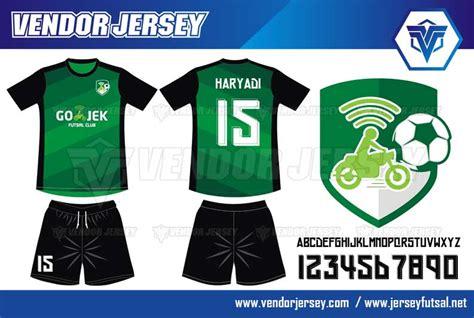 Kaos Custom Go Jek pembuatan jersey kaos futsal gojek vendor jersey