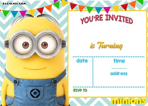 birthday card template minions free printable minion birthday invitation templates