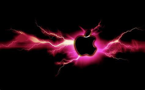 apple wallpaper lightning pink lightning apple by mind4music on deviantart
