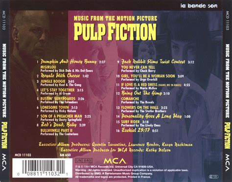 pulp fiction soundtrack pulp fiction back