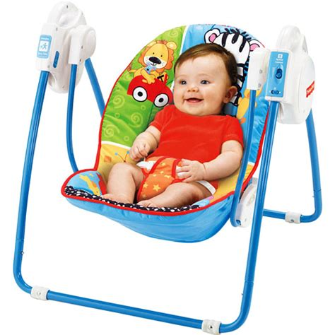 fisher price mobile swing fisher price adorable animals open top take along swing