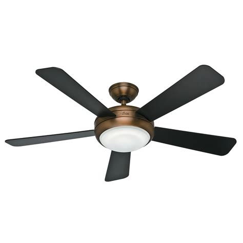 Bronze Ceiling Fans With Lights Shop Palermo 52 In Brushed Bronze Downrod Or Mount Indoor Ceiling Fan With Light