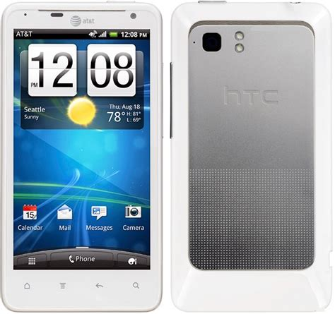 at t android htc 4g lte high end android pda white phone att excellent condition used cell phones