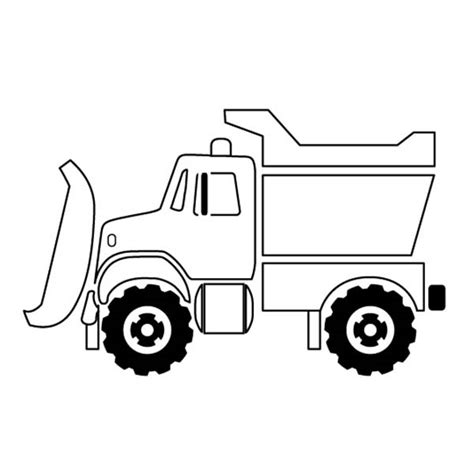 Snow Plow Truck On Dump Truck Coloring Page Kids Play Truck Coloring Pages 6