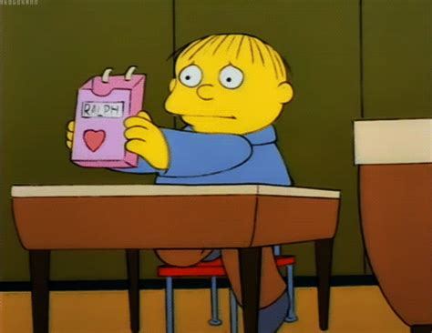 simpsons valentines day photoset gif the simpsons valentines day ralph wiggum