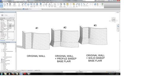 revit wall pattern not showing revitcity com revit 2015 curved wall sweep model