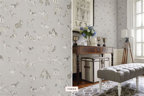 wall trends trends dog wallpaper decor pretty fluffy
