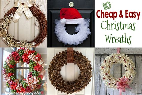 putting your holiday decorations up early could make you happier cheap and easy wreaths the imperfectly happy home