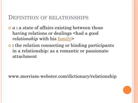 Define Relationship Ppt Relationships Powerpoint Presentation Id 3074054