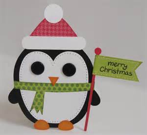 snippets by mendi day 8 a penguin shape christmas card