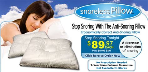 how do anti snore pillows work does the no snore pillow work