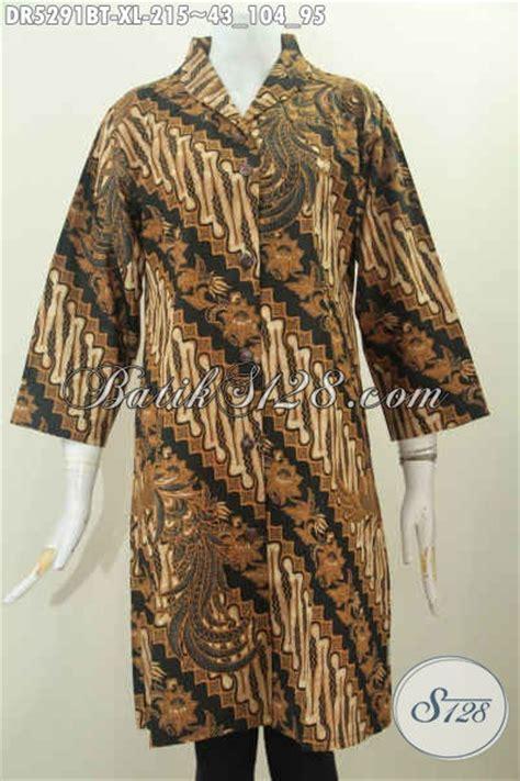 Batik Wanita Dress Terusan Parang Soft baju batik wanita dewasa batik dress terusan kerah