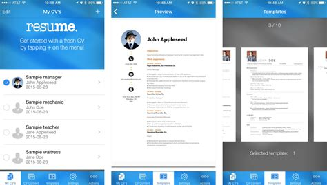 Resume Maker App Resume Tips How To Create A Resume On Your Iphone