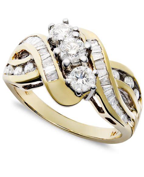macy s us three braid ring in 14k yellow or