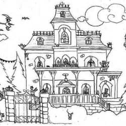 monster house free coloring pages on art coloring pages