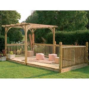 Pergola And Decking Kits by Forest Garden Ultima Combined Pergola Amp Decking Kit Fsc