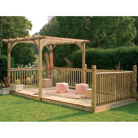 Forest Garden Ultima Combined Pergola Decking Kit Fsc Pergola On A Deck
