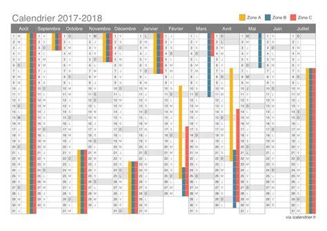 Calendrier Avec Vacances Scolaires 2017 Le Calendrier Scolaire 2017 2018 224 Imprimer Du